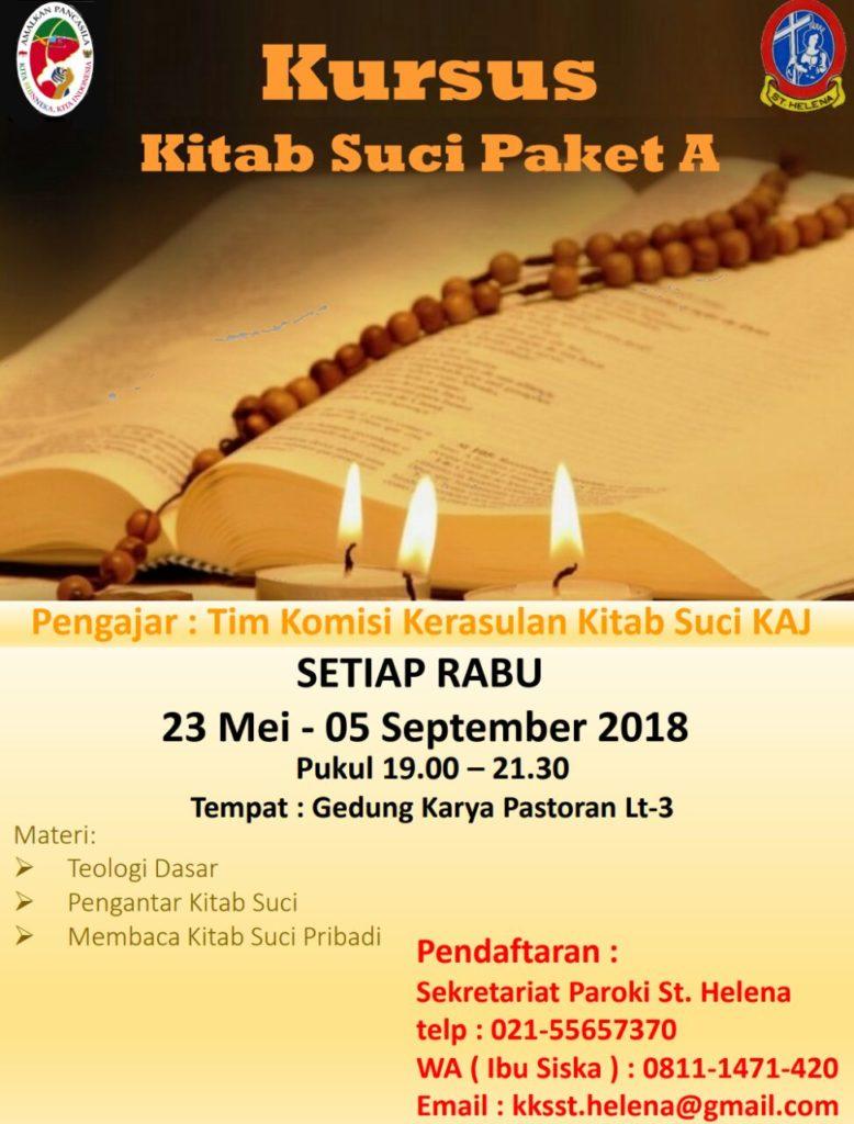Kursus Kitab Suci Paket A @ Gedung Karya Pastoran Lt.3 | Banten | Indonesia